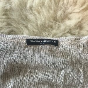 Loose Knit Brandy Melville Henley Long Sleeve